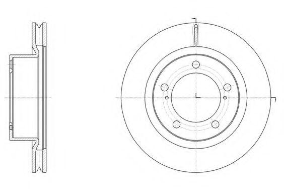 Тормозной диск ROADHOUSE арт. 6151710