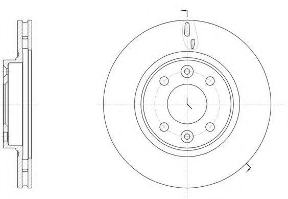 Тормозной диск ROADHOUSE арт. 6153510