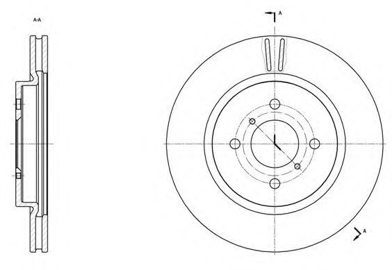 Тормозной диск ROADHOUSE арт. 6153810