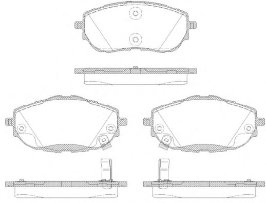 Комплект тормозных колодок, дисковый тормоз ROADHOUSE арт. 2156102