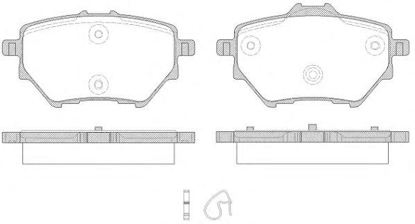 Комплект тормозных колодок, дисковый тормоз ROADHOUSE арт. 2156200
