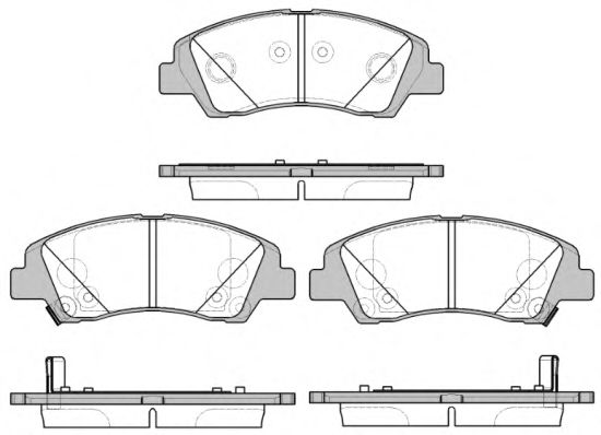 Комплект тормозных колодок, дисковый тормоз ROADHOUSE арт. 2158302
