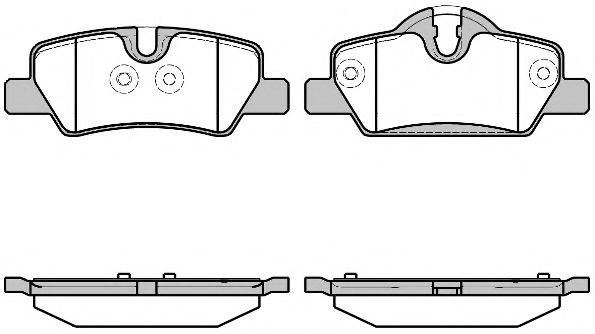 Комплект тормозных колодок, дисковый тормоз ROADHOUSE арт. 2160000