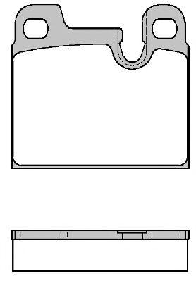 Комплект тормозных колодок, дисковый тормоз ROADHOUSE арт. 201500