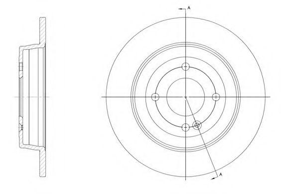 Тормозной диск ROADHOUSE арт. 6157000