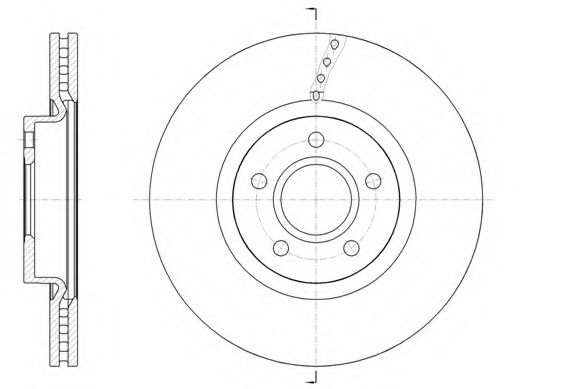 Тормозной диск ROADHOUSE арт. 6158910