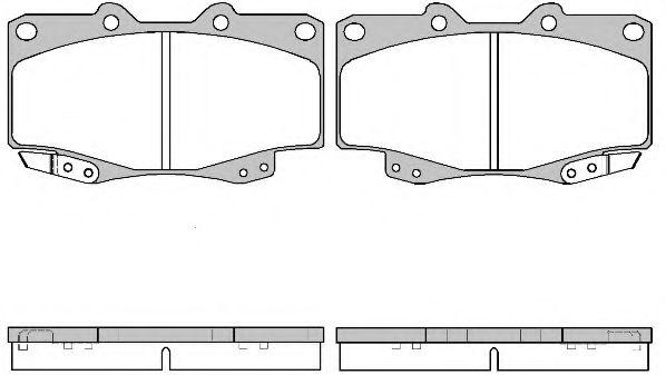 Комплект тормозных колодок, дисковый тормоз ROADHOUSE арт. 231522