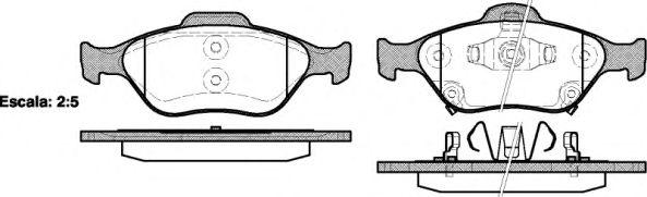 Комплект тормозных колодок, дисковый тормоз REMSA арт. 076612
