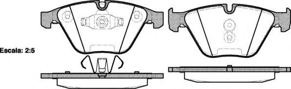 Комплект тормозных колодок, дисковый тормоз REMSA арт. 085710