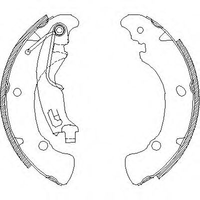 Комплект тормозных колодок REMSA арт. 404101
