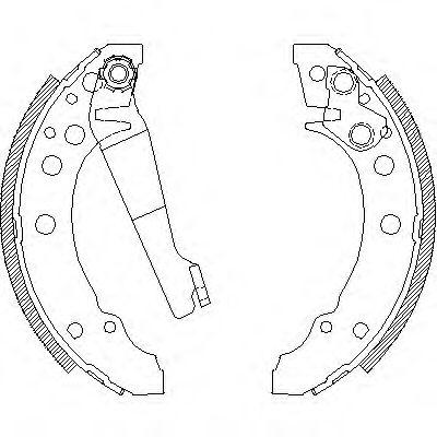 Комплект тормозных колодок REMSA арт. 404500