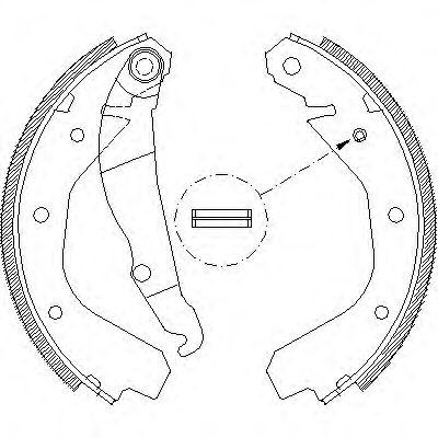 Комплект тормозных колодок REMSA арт. 408800