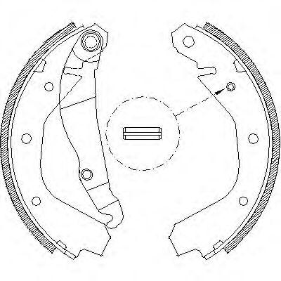 Комплект тормозных колодок REMSA арт. 409100