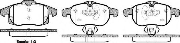 Комплект тормозных колодок, дисковый тормоз REMSA арт. 088840
