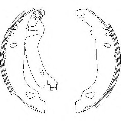 Комплект тормозных колодок REMSA арт. 417901