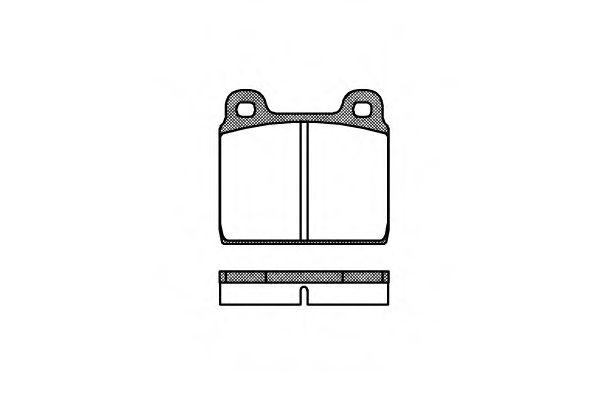 Комплект тормозных колодок, дисковый тормоз REMSA арт. 000200