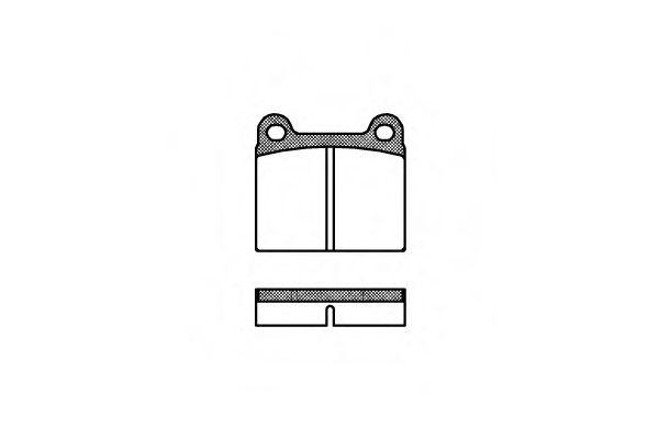 Комплект тормозных колодок, дисковый тормоз REMSA арт. 000600