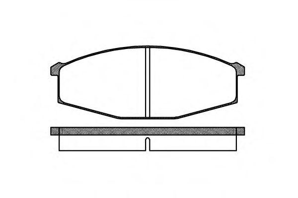 Комплект тормозных колодок, дисковый тормоз REMSA арт. 012900