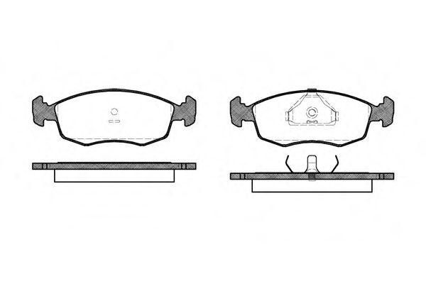 Комплект тормозных колодок, дисковый тормоз REMSA арт. 017200