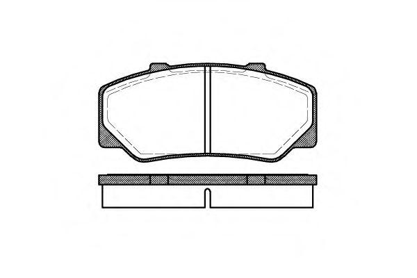 Комплект тормозных колодок, дисковый тормоз REMSA арт. 017600