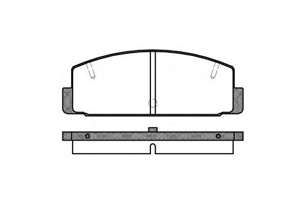 Комплект тормозных колодок, дисковый тормоз REMSA арт. 017910