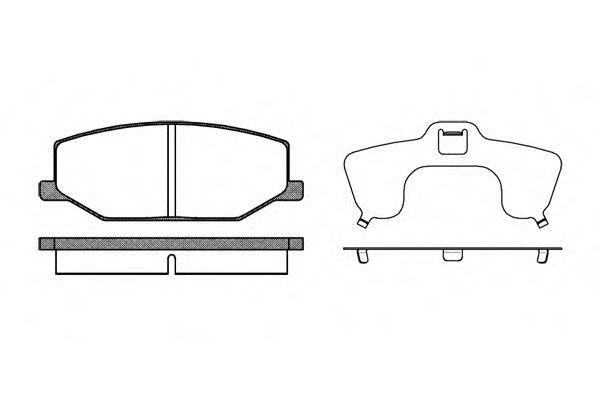Комплект тормозных колодок, дисковый тормоз REMSA арт. 019010