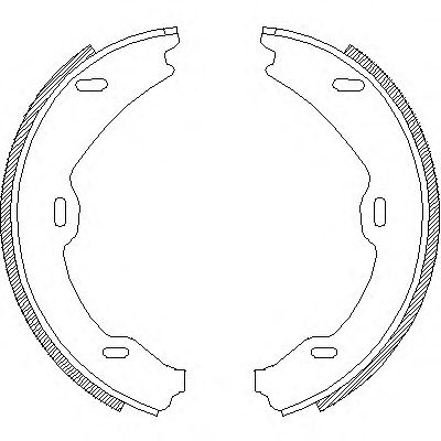 Комплект тормозных колодок, стояночная тормозная система REMSA арт. 470601