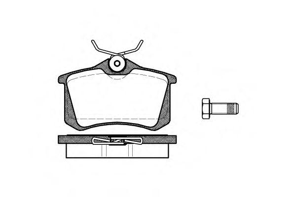Комплект тормозных колодок, дисковый тормоз REMSA арт. 026301