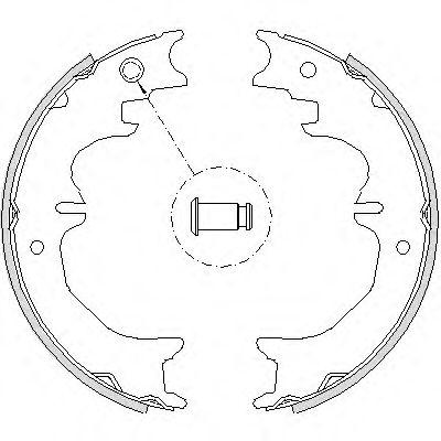 Комплект тормозных колодок, стояночная тормозная система REMSA арт. 472700