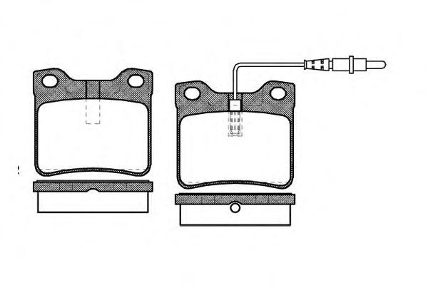 Комплект тормозных колодок, дисковый тормоз REMSA арт. 032122