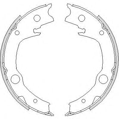 Комплект тормозных колодок, стояночная тормозная система REMSA арт. 472900