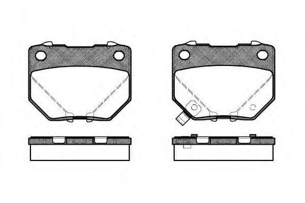 Комплект тормозных колодок, дисковый тормоз REMSA арт. 036521