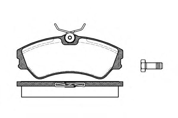 Комплект тормозных колодок, дисковый тормоз REMSA арт. 038300