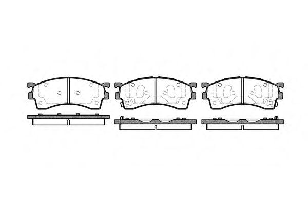 Комплект тормозных колодок, дисковый тормоз REMSA арт. 041512