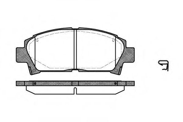 Комплект тормозных колодок, дисковый тормоз REMSA арт. 042702