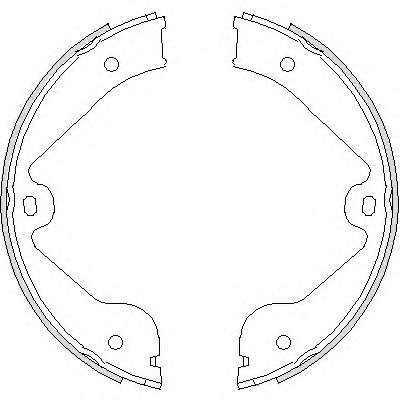 Комплект тормозных колодок, стояночная тормозная система REMSA арт. 473500