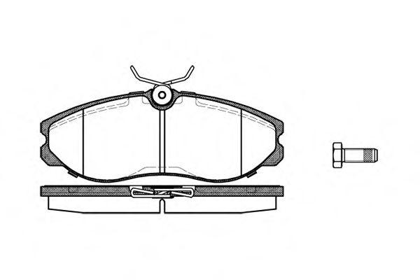 Комплект тормозных колодок, дисковый тормоз REMSA арт. 046200