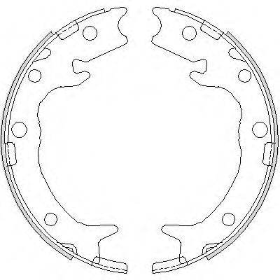 Комплект тормозных колодок, стояночная тормозная система REMSA арт. 473700