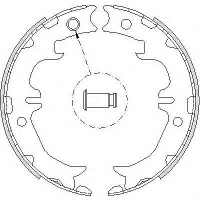 Комплект тормозных колодок, стояночная тормозная система REMSA арт. 474200