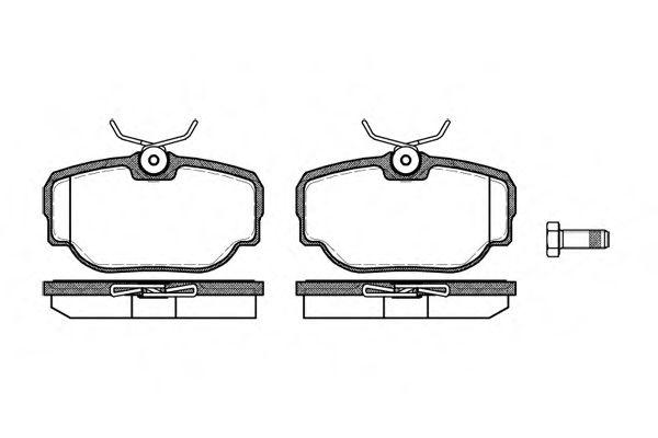 Комплект тормозных колодок, дисковый тормоз REMSA арт. 057700