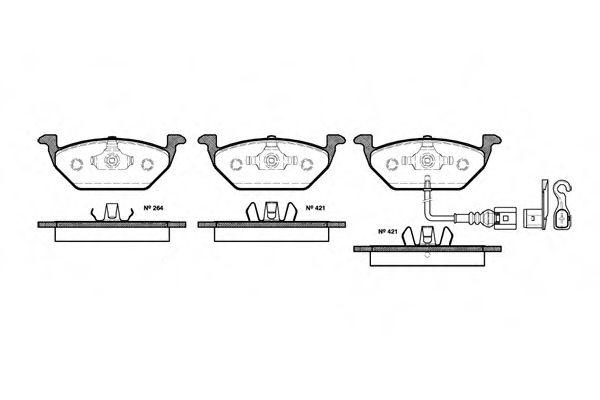 Комплект тормозных колодок, дисковый тормоз REMSA арт. 063321