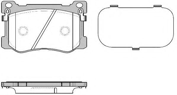 Комплект тормозных колодок, дисковый тормоз REMSA арт. 147512