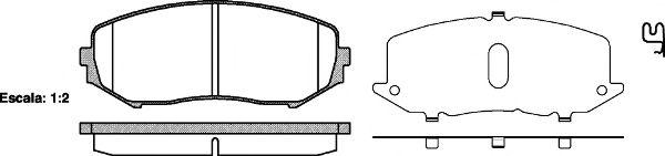 Комплект тормозных колодок, дисковый тормоз REMSA арт. 122502