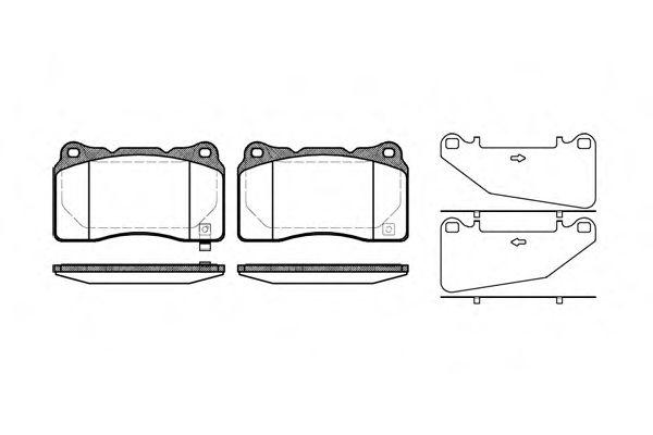 Комплект тормозных колодок, дисковый тормоз REMSA арт. 066632