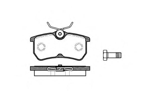 Комплект тормозных колодок, дисковый тормоз REMSA арт. 069300