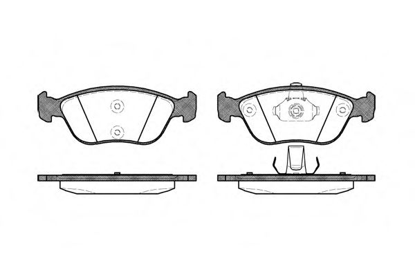 Комплект тормозных колодок, дисковый тормоз REMSA арт. 072200