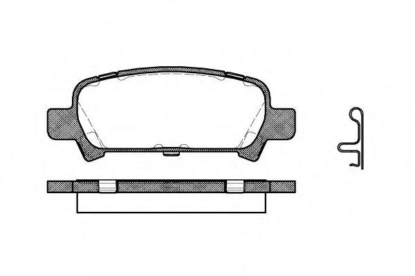 Комплект тормозных колодок, дисковый тормоз REMSA арт. 072902