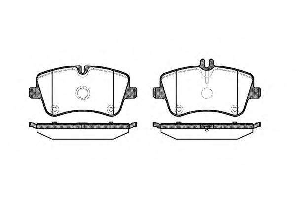 Комплект тормозных колодок, дисковый тормоз REMSA арт. 076800