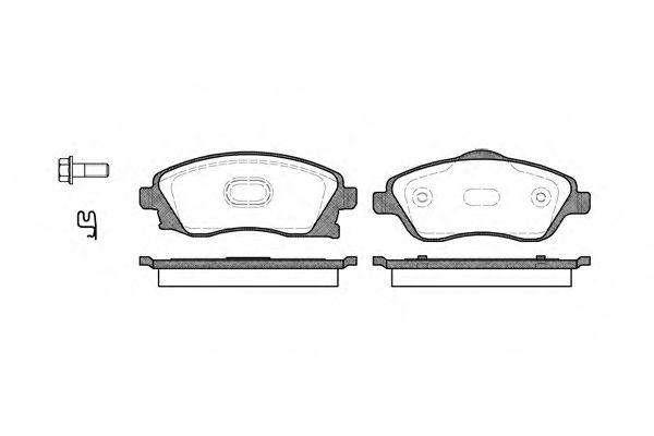 Комплект тормозных колодок, дисковый тормоз REMSA арт. 077412