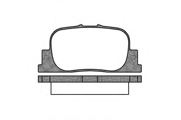 Комплект тормозных колодок, дисковый тормоз REMSA арт. 080100